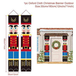 Logiid Nutcracker Soldier update 2020 Nutcracker Soldier Banner Christmas Decor For Home