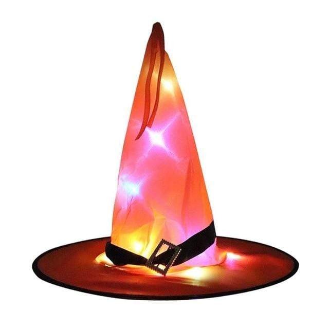 Logiid Orange / 1pcs Halloween Decoration Witch Hats LED Lights Cap