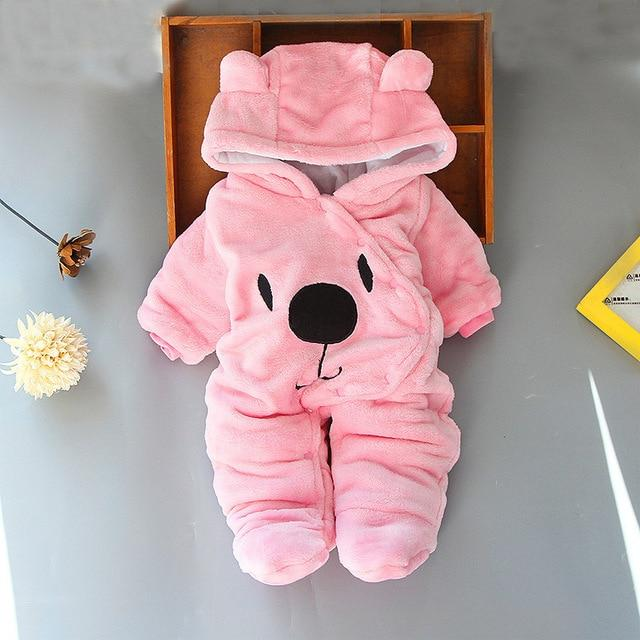 Logiid Pink / 3M Winter Newborn toddle Bear Romper Boy girls 0-18M