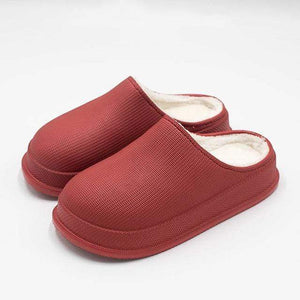 Logiid Red Wine / 38 Waterproof Non-Slip Home Slippers