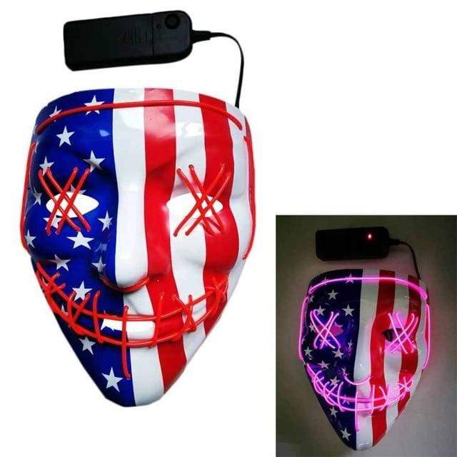 Logiid USA - Pink / United States Halloween LED Mask Best gift 2020