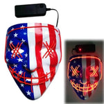 Logiid USA  - Red / United States Halloween LED Mask Best gift 2020