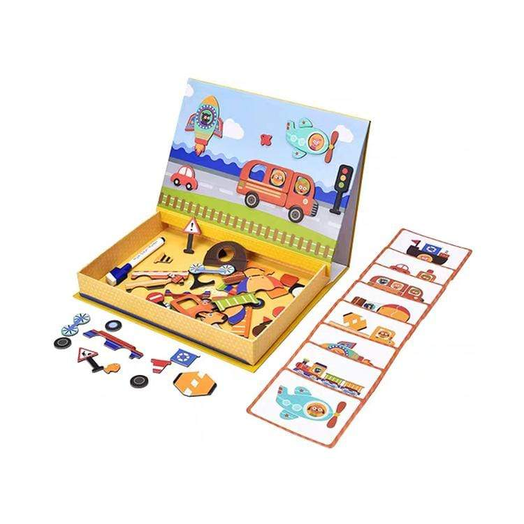 "Logiid ""Vehicles"" Magnetic Art Puzzles Montessori Kidsplay"