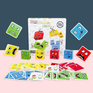 Logiid with box 3 Montessori Educational Toys Wooden Expression Magic Puzzled Cube