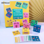 Logiid with box new Montessori Educational Toys Wooden Expression Magic Puzzled Cube