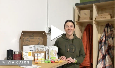 Woman with Patagonia Provisions food