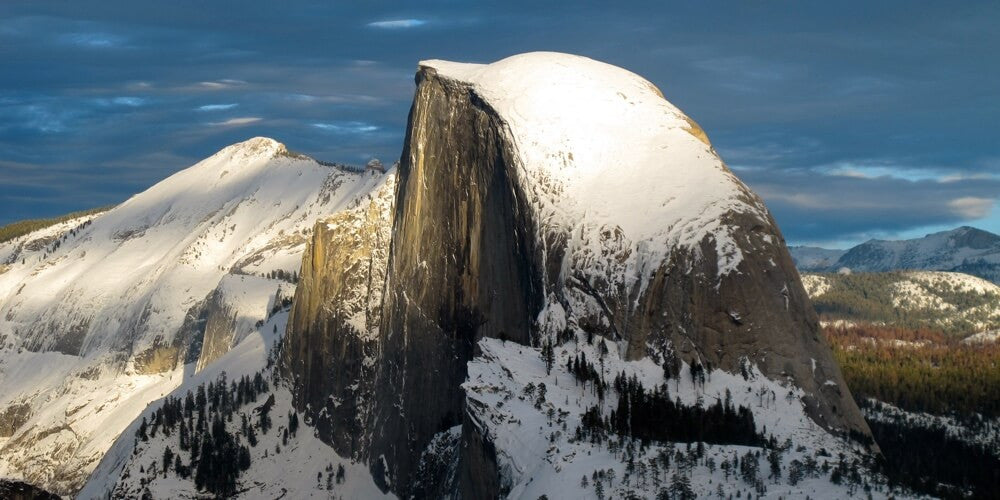 Half dome with a dusting of snow