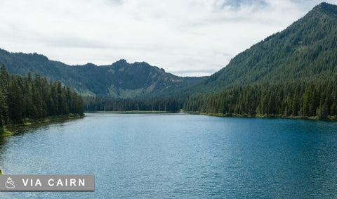 View of a lake surrounded by mountains