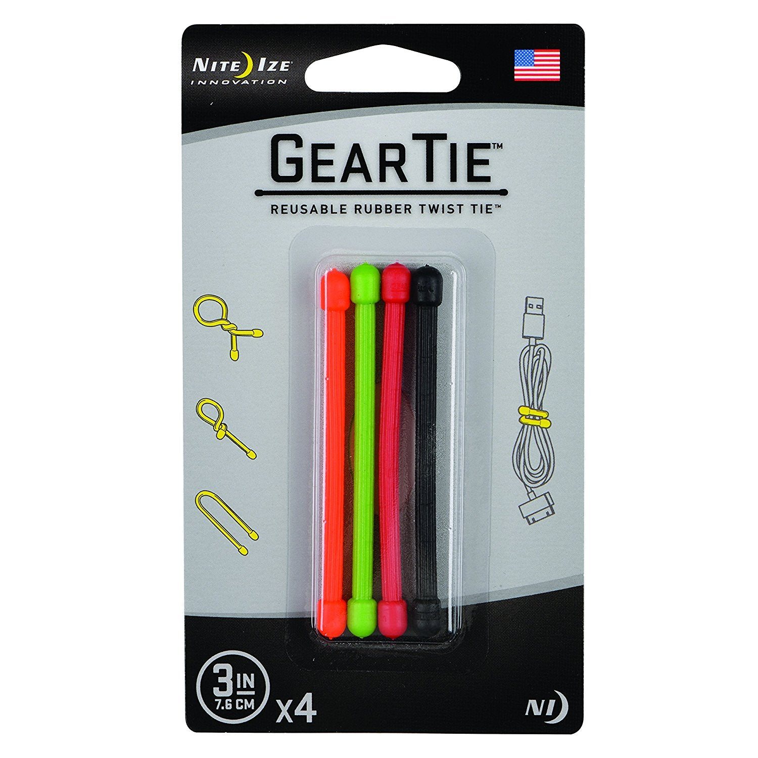 3 in. Gear Ties
