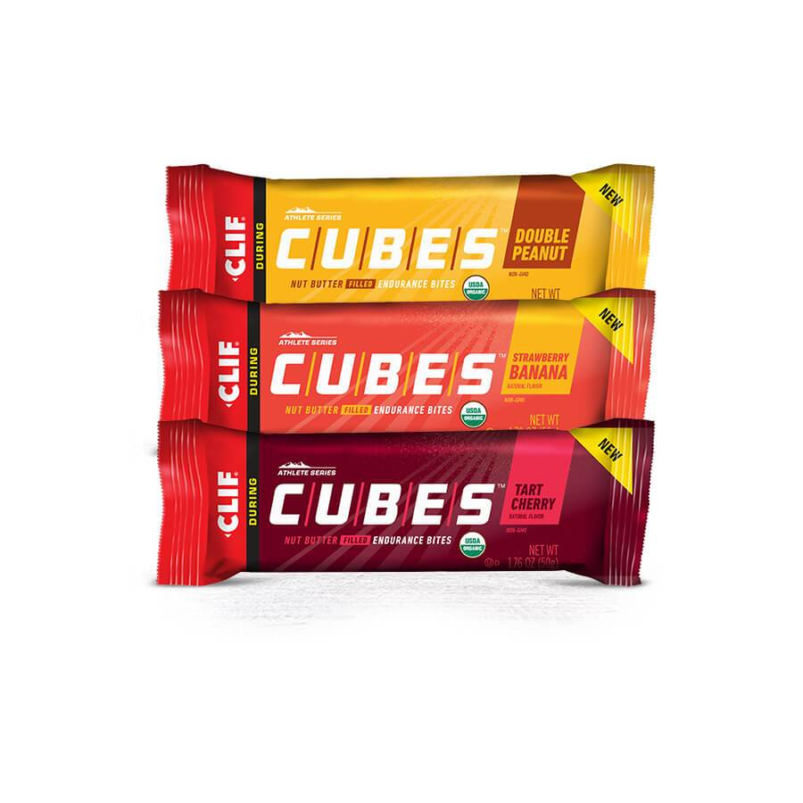 Clif Cubes - Double Peanut, Strawberry Banana, Tart Cherry