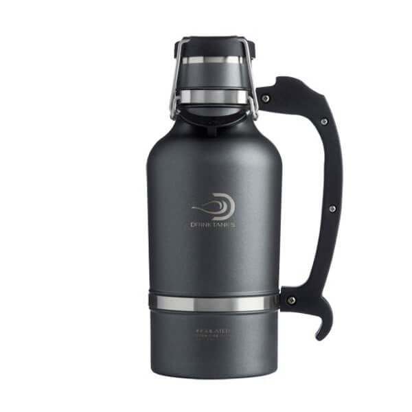 64 oz. Growler - Gunmetal + Keg Cap Accessory Kit