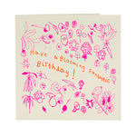 'Blooming fantastic birthday' card