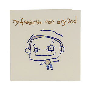 'Favourite Dad' Father's Day card