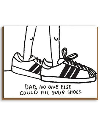 'Fill your shoes' Father's Day card