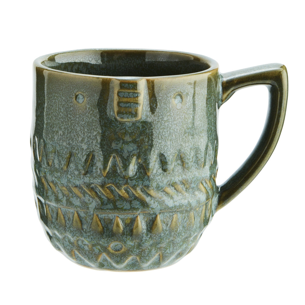 Stoneware mug with faceprint