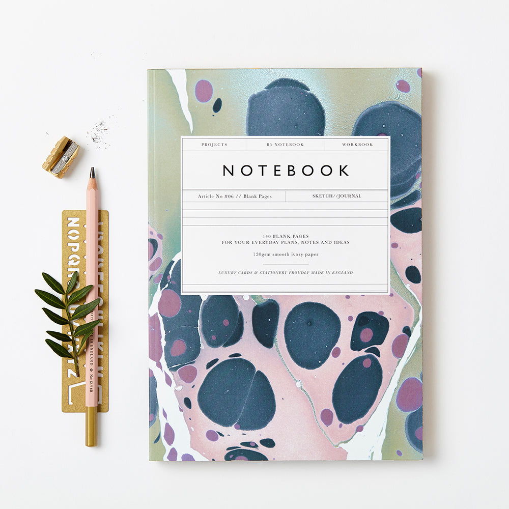 Katie Leamon Marbled Notebook