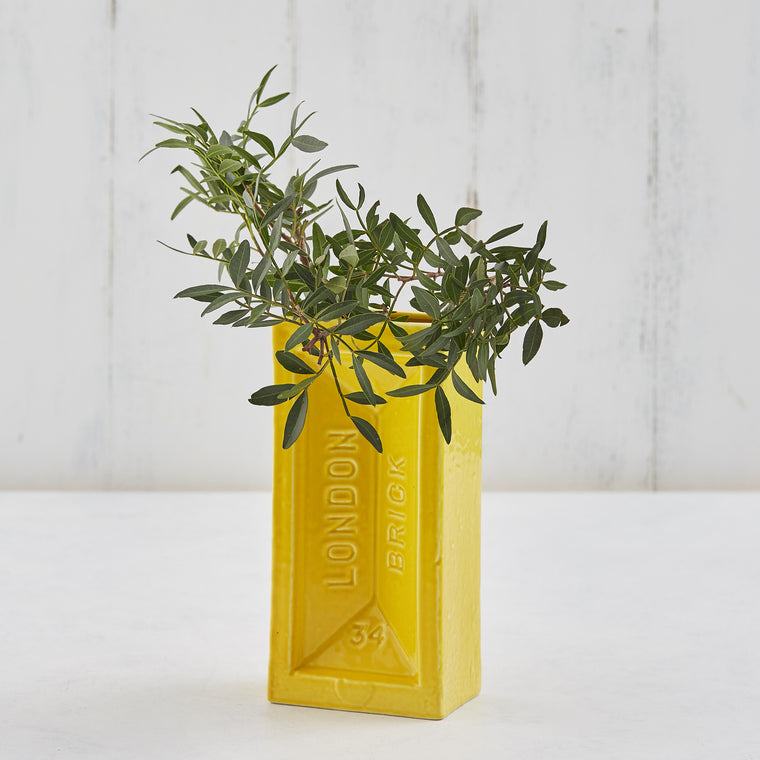 Yellow Brick Vase