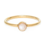 Peach Moonstone Orb ring