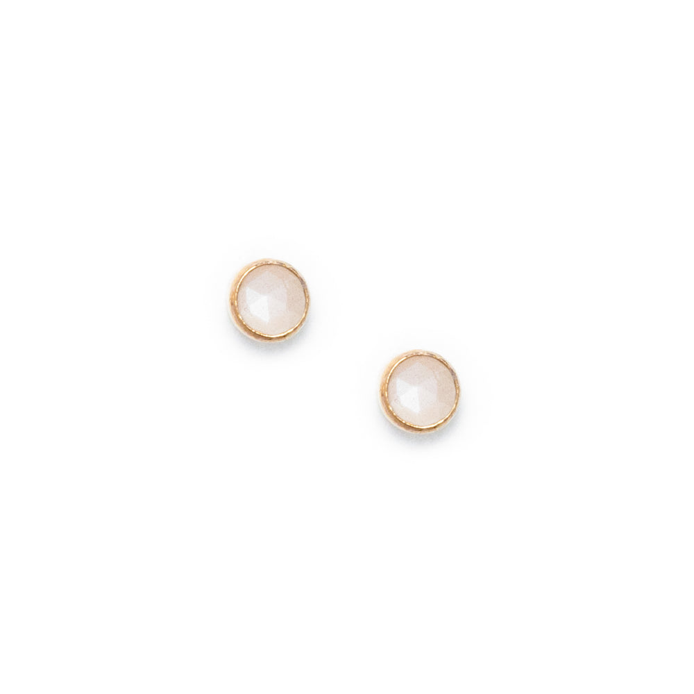 Peach Moonstone Orb studs