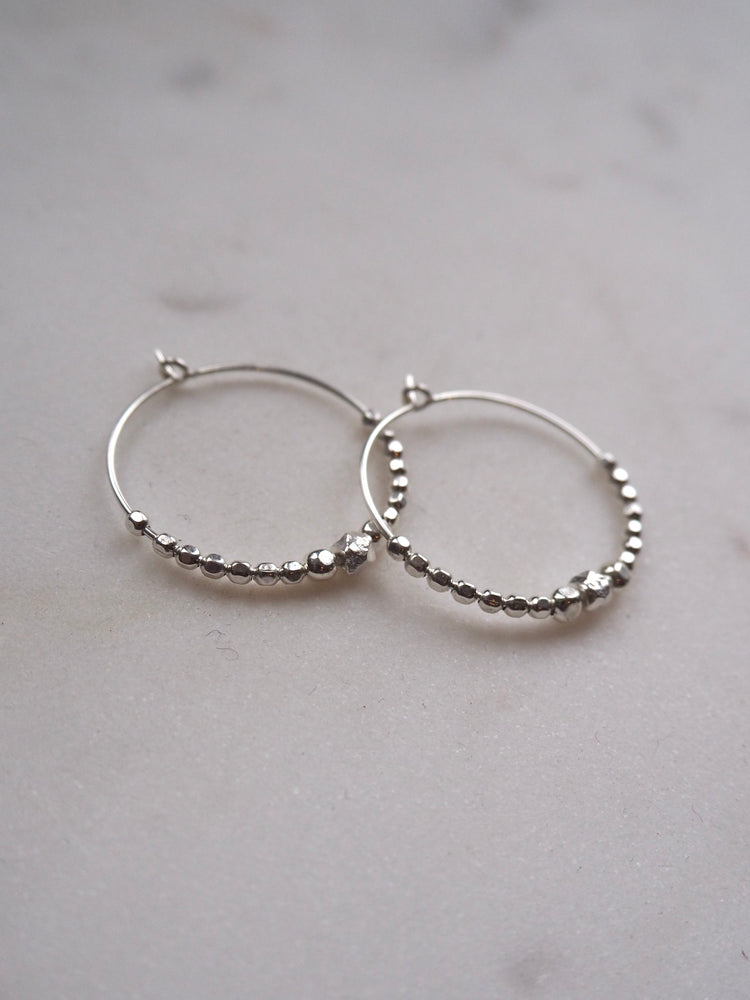 Jazzy hoops, silver