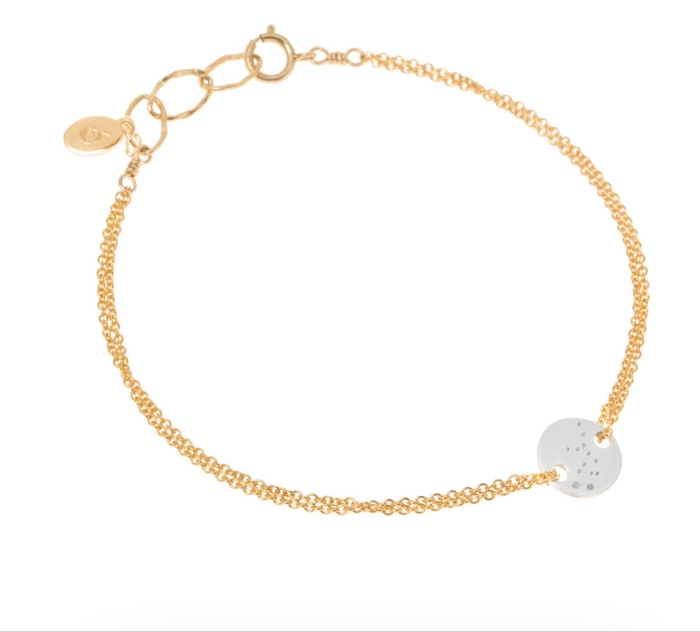 Constellation bracelet gold & silver