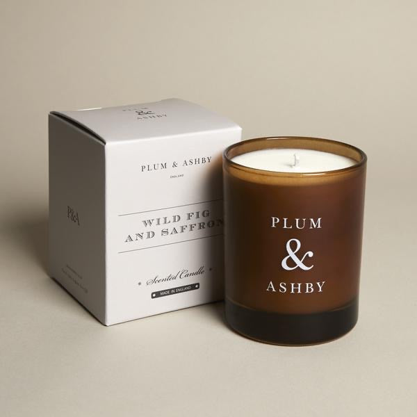 Plum & Ashby Wild Fig & Saffron large candle