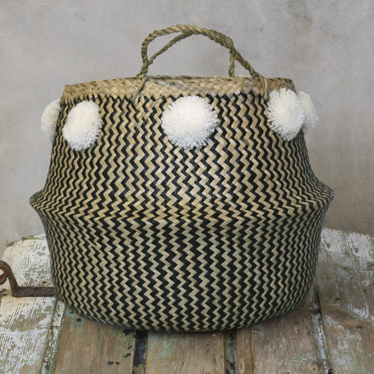 Toulouse Monochrome Basket, medium