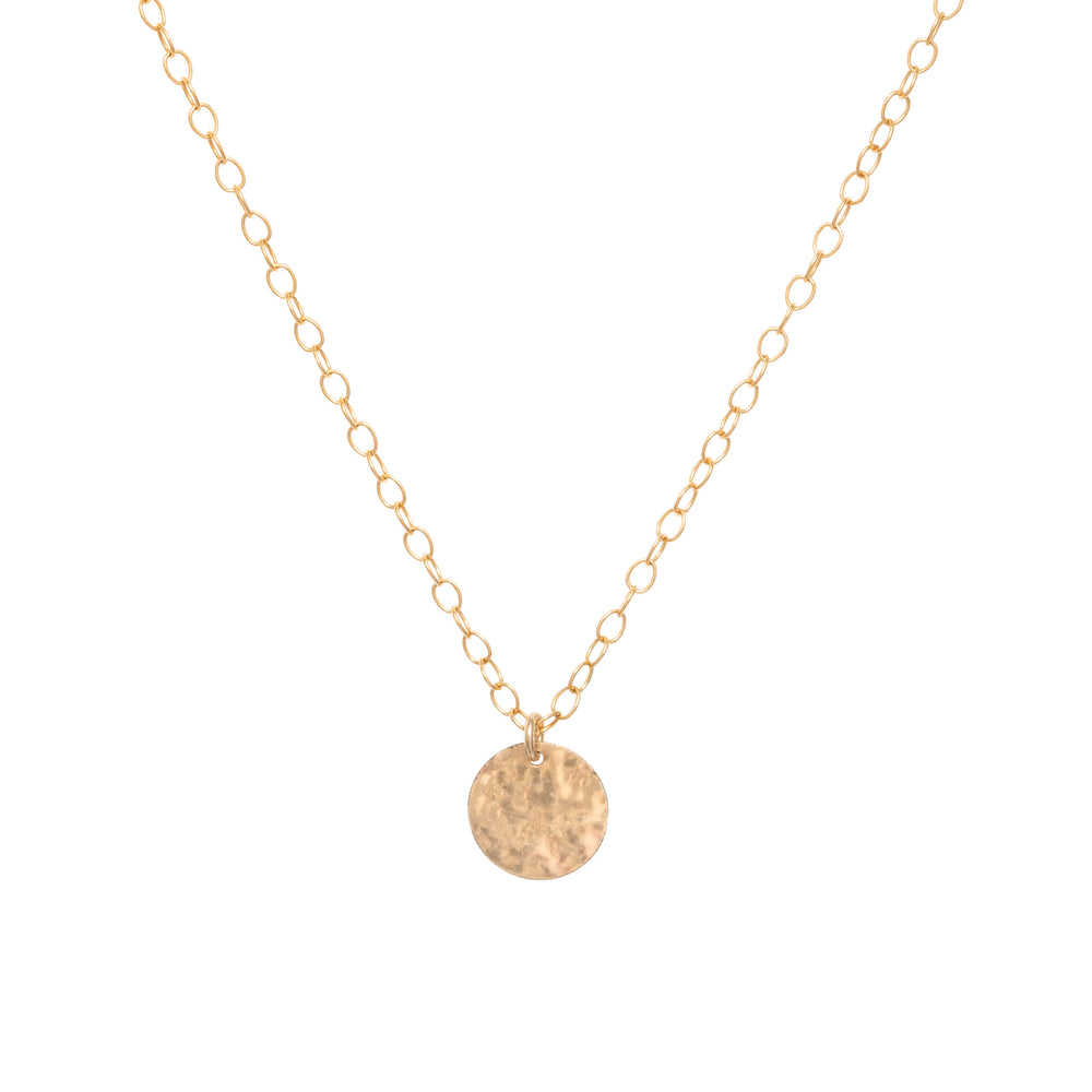 Long radiance coin necklace small coin