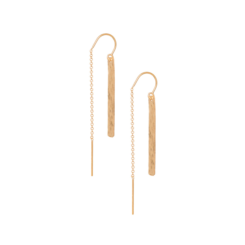 Radiance bar thread earrings