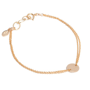 Radiance coin bracelet gold