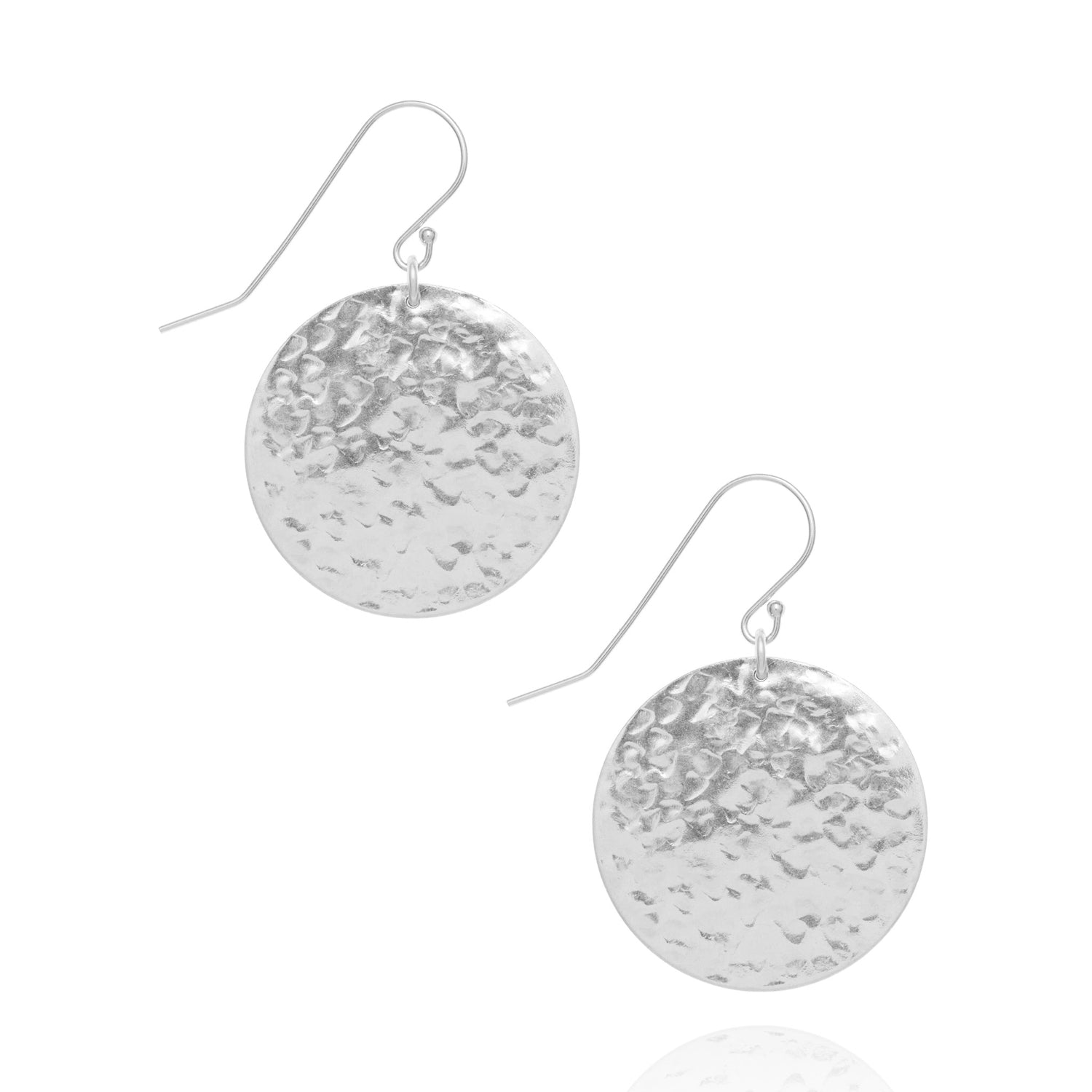 Large radiance coin earrings, silver