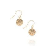 Radiance coin earrings, gold