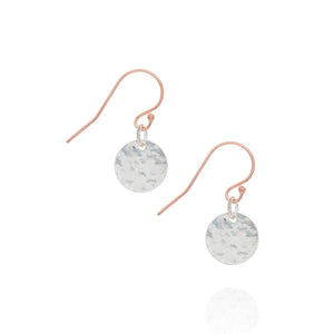 Radiance coin earrings, silver & rose