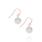 Radiance coin earrings, silver