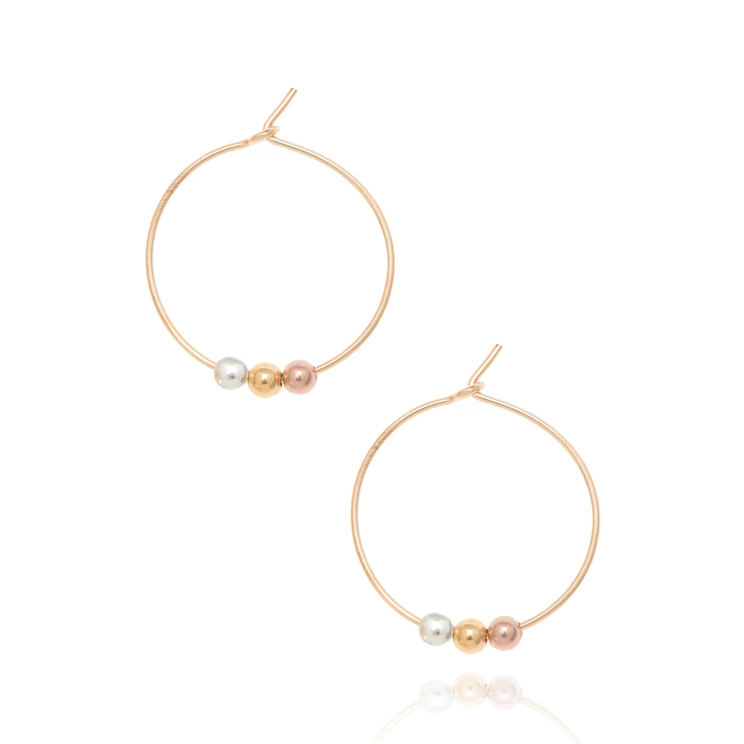 Spheres hoop earrings