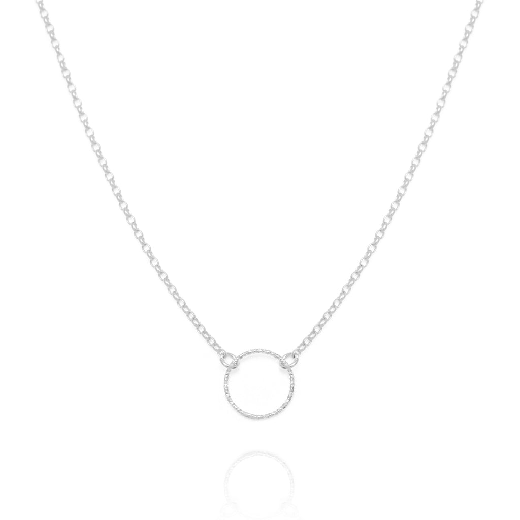 Halo necklace, silver