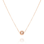 Large sphere necklace, Rose Gold