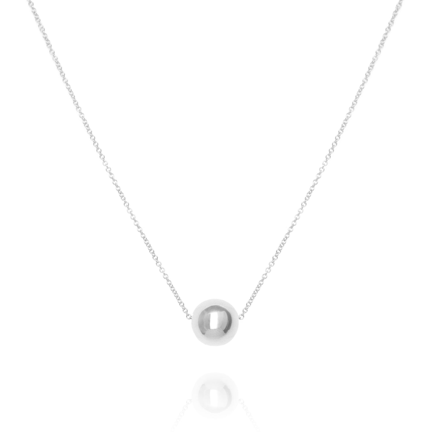Large sphere necklace, silver