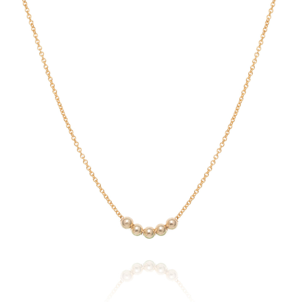Spheres necklace, gold