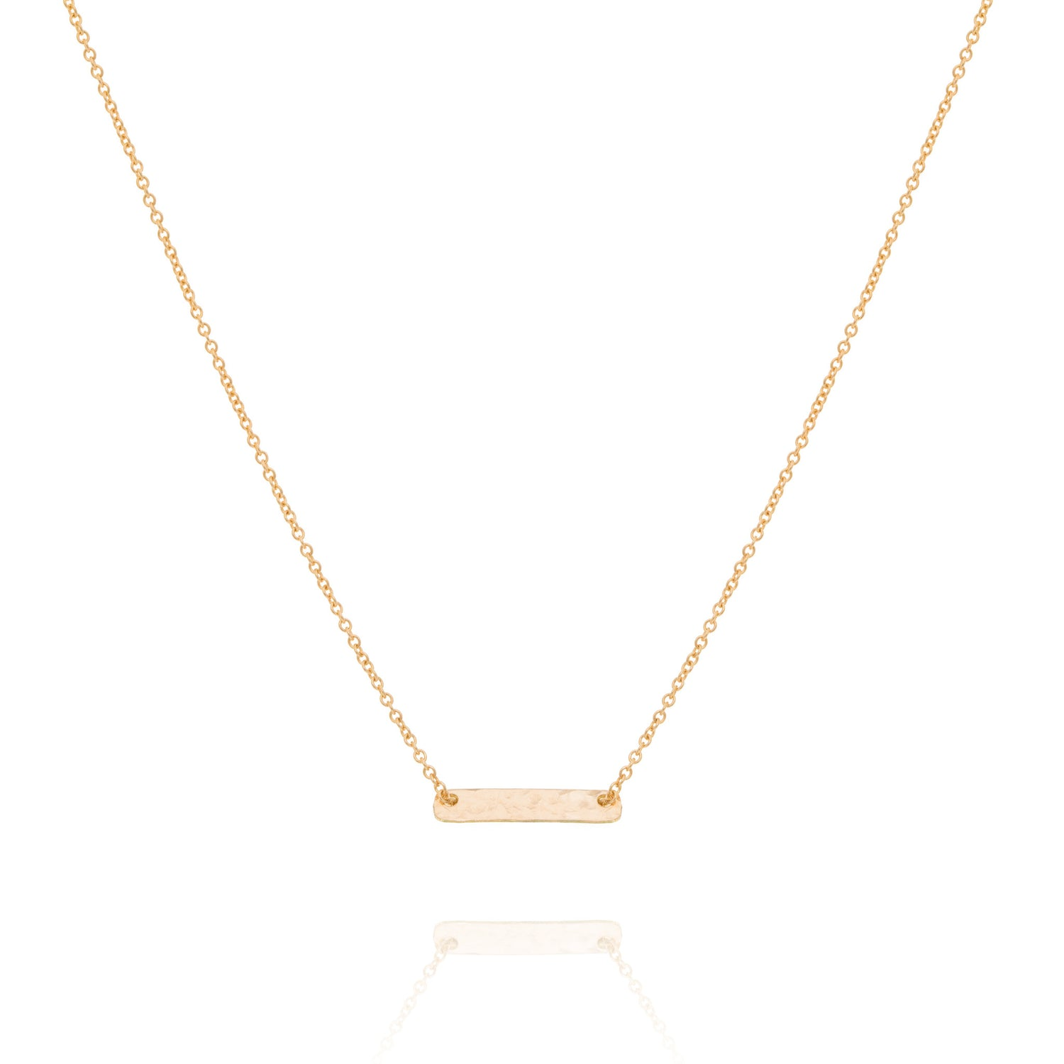 Mini Bar necklace, gold