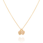 Mini hearts necklace, gold