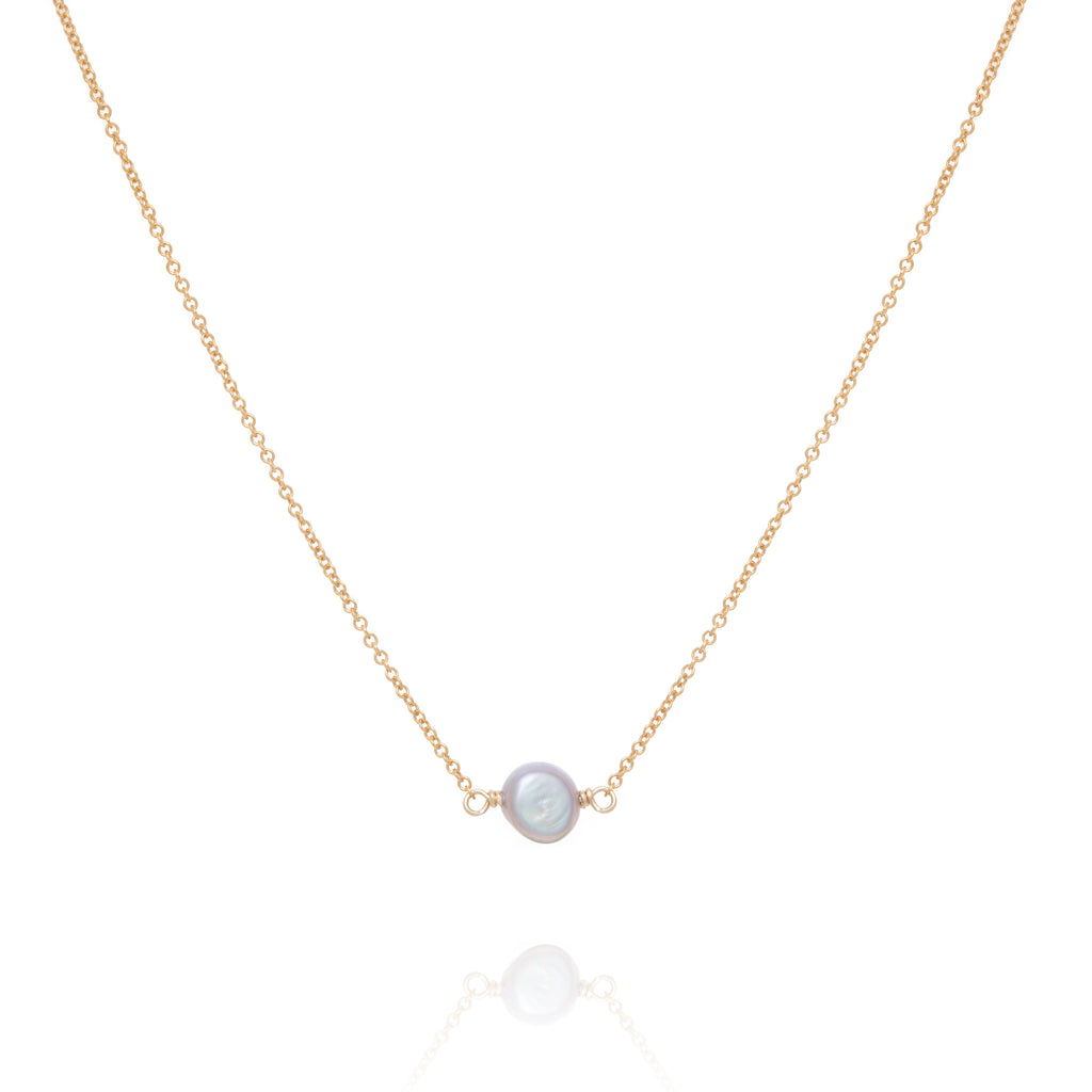 Single Petrol Pearl necklace