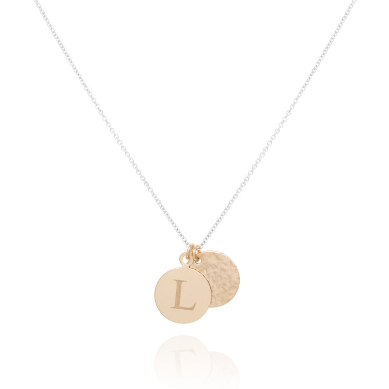 Heritage & Radiance Coin necklace, silver & gold mix
