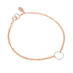 Halo bracelet, rose gold & silver