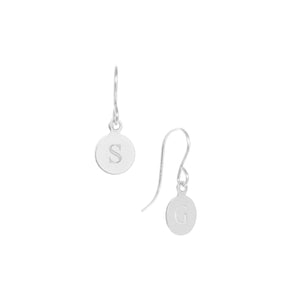 Heritage initial earrings, silver