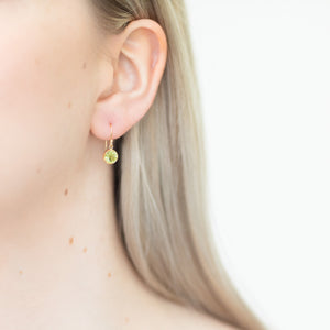 Peridot drop earrings