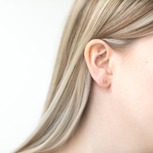 Triangle stud earrings, rose gold