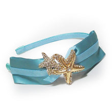 Load image into Gallery viewer, Bartolo Ocean of Dreams Crystals Seastar Starfish Embellished Satin Headband