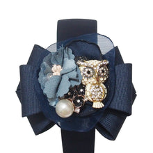 Load image into Gallery viewer, Bartosz Owl Gardens Bow-embellished Headband