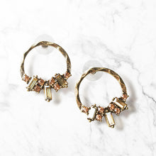 Load image into Gallery viewer, Prepare to turn heads in this dreamy pair, featuring captivating crystals with a modern meets vintage silhouette. Both timeless and right on trend, this stylish and romantic set is sure to elevate any look.